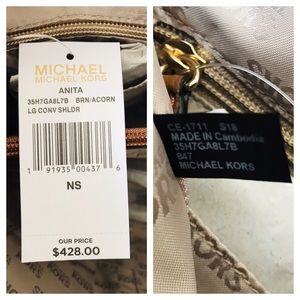 Michael Kors Bags - MK Anita Large Convertible Shoulder Tote